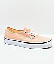 Vans Authentic Bleach Apricot & White Skate Shoes