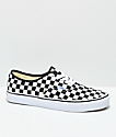 Vans Authentic Golden Coast & Black Checkered Skate Shoes