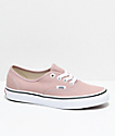 Vans Authentic Mahogany Rose & White Skate Shoes