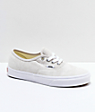 Vans Authentic Moonbeam & True White Pig Suede Skate Shoes