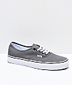 Vans Authentic Pewter, Black & White Skate Shoes
