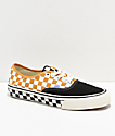 Vans Authentic SF Checkerboard Sunflower & Black Skate Shoes
