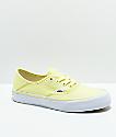 Vans Authentic SF Tender zapatos de skate amarillos