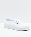 Vans Authentic True White Platform Shoes