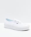 Vans Authentic True White Platform Skate Shoes