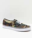 Vans Authentic Woodland zapatos de skate de camuflaje