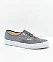 Vans Authentic zapatos de skate de brillo negro
