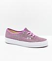 Vans Authentic zapatos de skate de brillo rosa