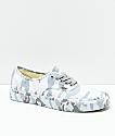 Vans Authentic zapatos de skate de camuflaje blanco
