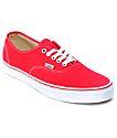 Vans Authentic zapatos de skate en rojo