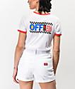 Vans Avenue White Ringer T-Shirt