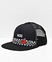 Vans Beach Girl Rose Black Mesh Snapback Hat