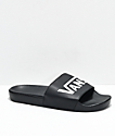 Vans Black & White Slide On Sandals