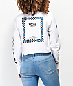 Vans Bloom camiseta corta de manga larga blanca y azul