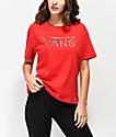 Vans Boxy Satin Fill camiseta roja