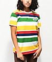 Vans Boyfriend Rainbow Stripe T-Shirt