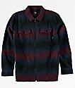 Vans Boys Brewster Port Royale Blue Zip Up Flannel Shirt