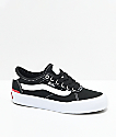Vans Boys Chima Pro 2 Black & White Skate Shoes