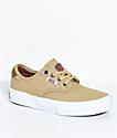 Vans Boys Chima Pro Reptile Khaki Canvas Shoes