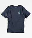 Vans Boys Mini Dual Palm Blue T-Shirt