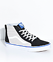 Vans Boys Sk8-Hi Black & Micro Chip Zippered Skate Shoes