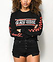 Vans Break Black Long Sleeve Crop T-Shirt