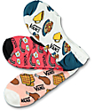 Vans Brekki Canoodle Food 3 pack calcetines invisibles