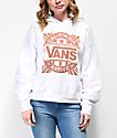 Vans Cali Native White Crop Hoodie