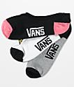 Vans Canoodle Eat Feelings paquete de 3 calcetines invisibles
