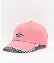 Vans Check It gorra rosa y a cuadros
