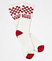 Vans Checker Chili Pepper & White Crew Socks