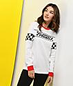 Vans Checker White & Red Ringer Long Sleeve T-Shirt
