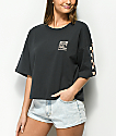 Vans Checkerboard Black & Tan Crop T-Shirt