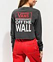 Vans Checkerboard Black Crop Long Sleeve T-Shirt