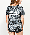 Vans Checkerboard Black Tie Dye T-Shirt