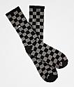 Vans Checkerboard II Black & Charcoal Crew Socks