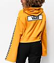 Vans Checkerboard Yellow Crop Hoodie