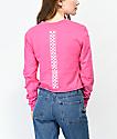 Vans Checkerboard camiseta corta de manga larga rosa fuerte