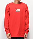 Vans Checkmate III Red Long Sleeve T-Shirt