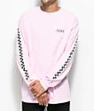 Vans Checkmate Pink & camiseta blanca de manga larga