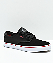 Vans Chima Pro Black, White & Chili Red Skate Shoes
