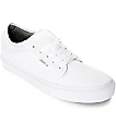 Vans Chukka Low 10 Oz. White Canvas Skate Shoes