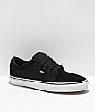 Vans Chukka Low Black & White Suede Skate Shoes