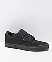 Vans Chukka Low Black Mono Canvas Skate Shoes