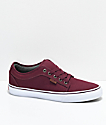 Vans Chukka Low Pro Port zapatos de skate de color borgoño