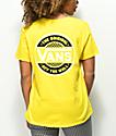 Vans Circle Checkerboard Yellow T-Shirt