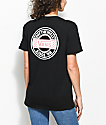 Vans Circle Checkered Black Boyfriend T-Shirt