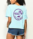 Vans Circle Palm Blue Crop T-Shirt