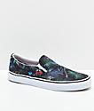 Vans Classic Slip On Black Tropical Shoes