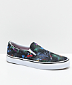 Vans Classic Slip On Black Tropical Shoes